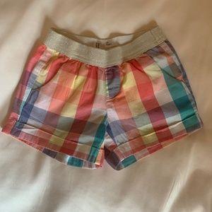 Gap Kids Girl's Plaid Shorts